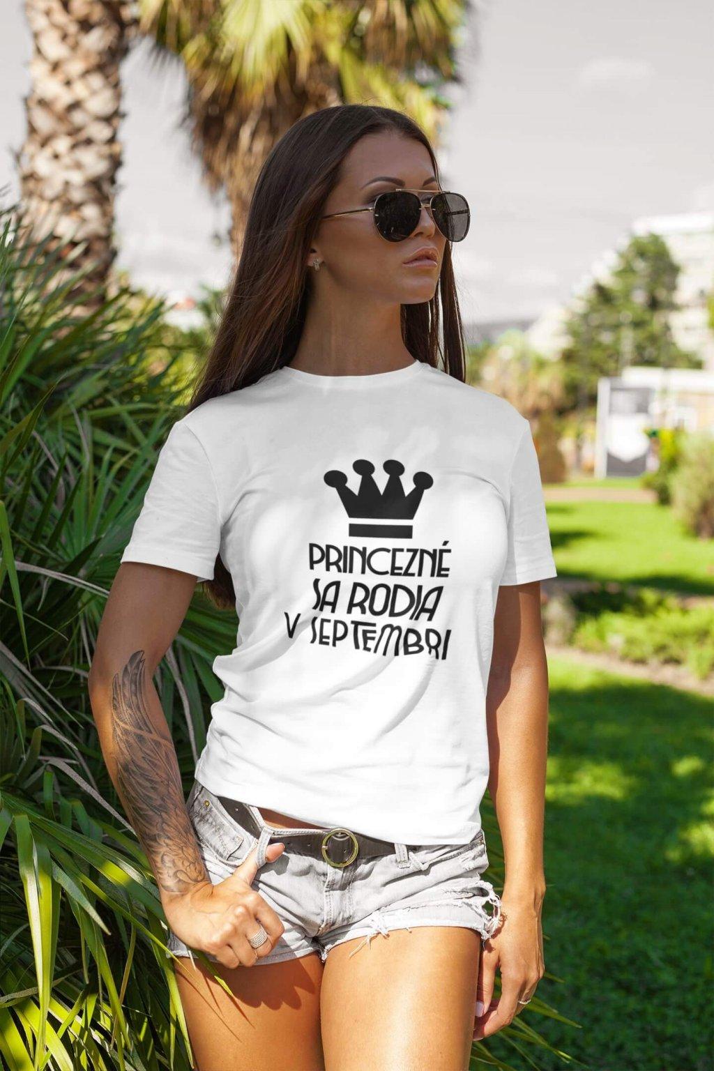 Dámske tričko Princezné sa rodia v septembri