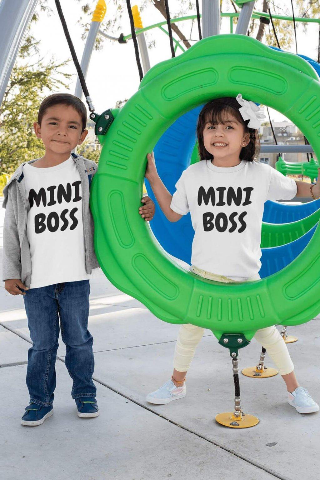 Detské tričko Mini Boss
