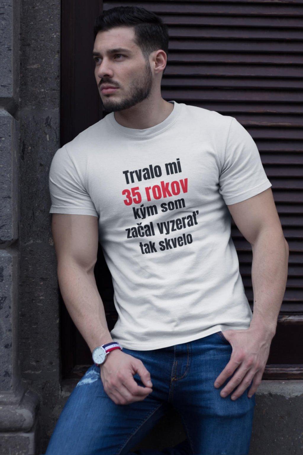 Pánske narodeninové tričko 35 rokov