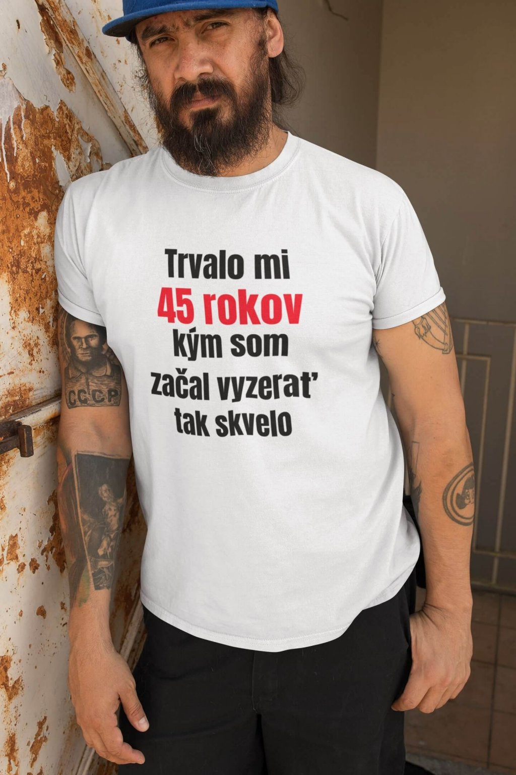 Pánske narodeninové tričko 45 rokov