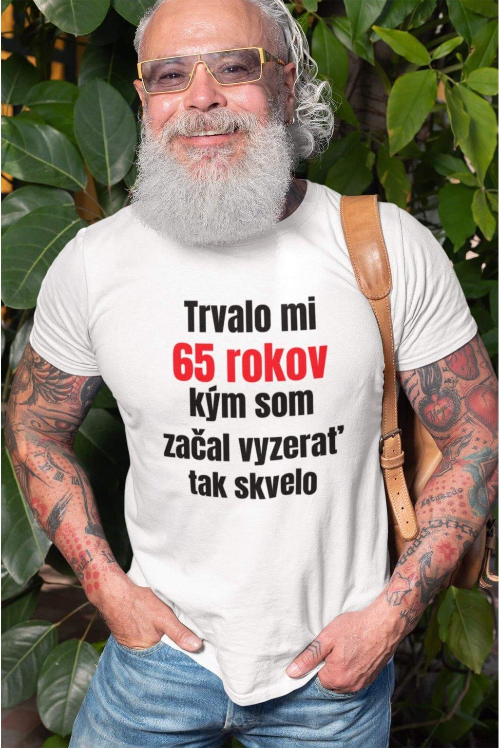 Pánske narodeninové tričko 65 rokov