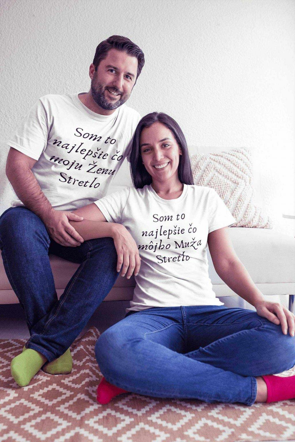 Vtipné tričká pre páry s nápisom biele