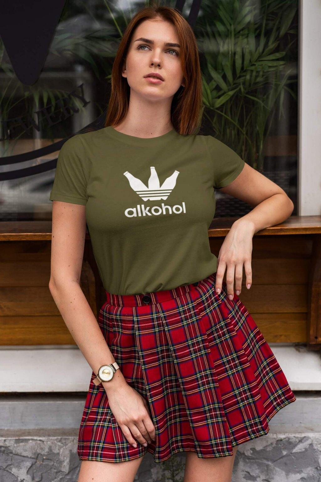 Dámske tričko s Flaškami