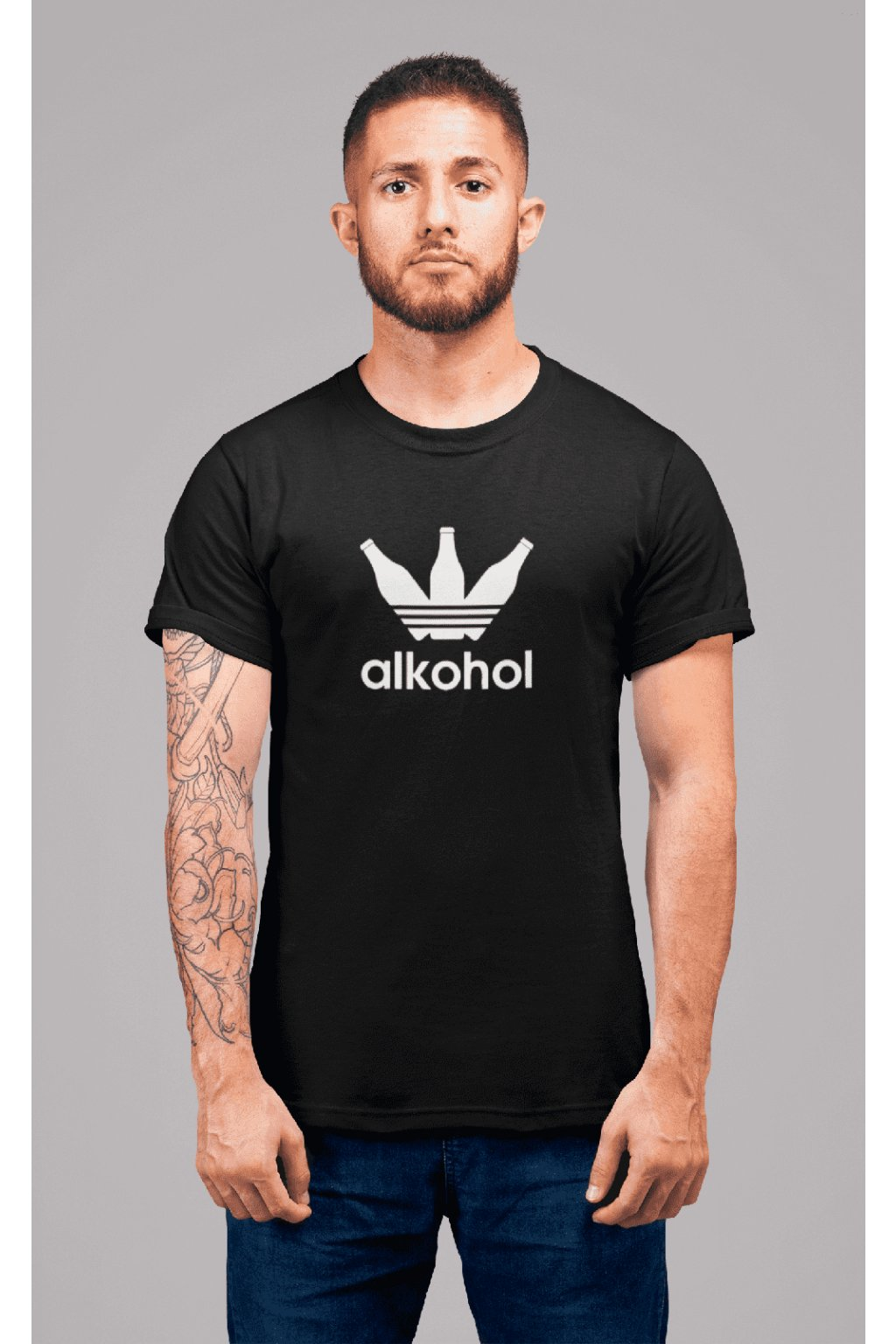 t shirt mockup of a redhead man with tattoos standing in a studio 22340 (14)