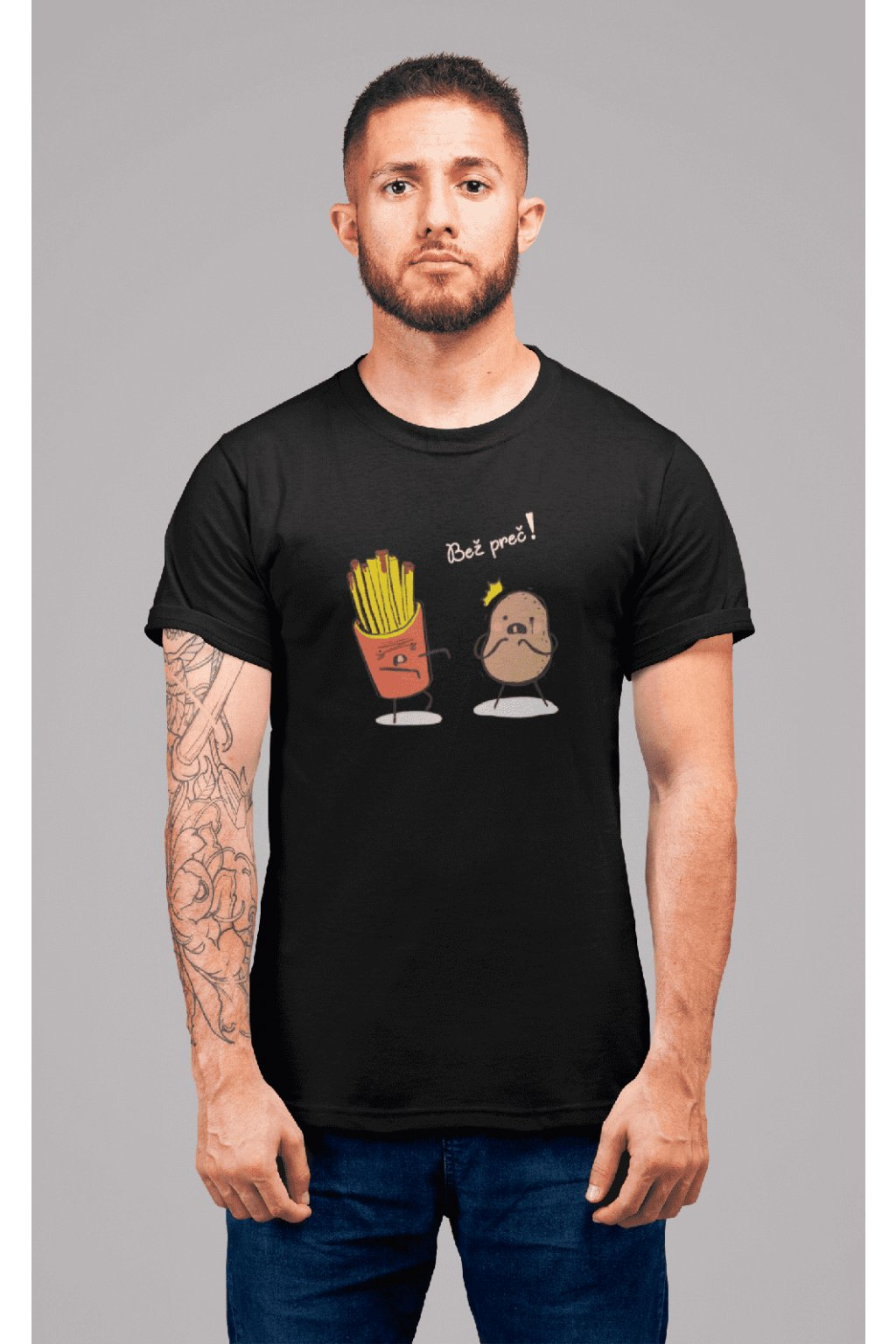 t shirt mockup of a redhead man with tattoos standing in a studio 22340 (25)
