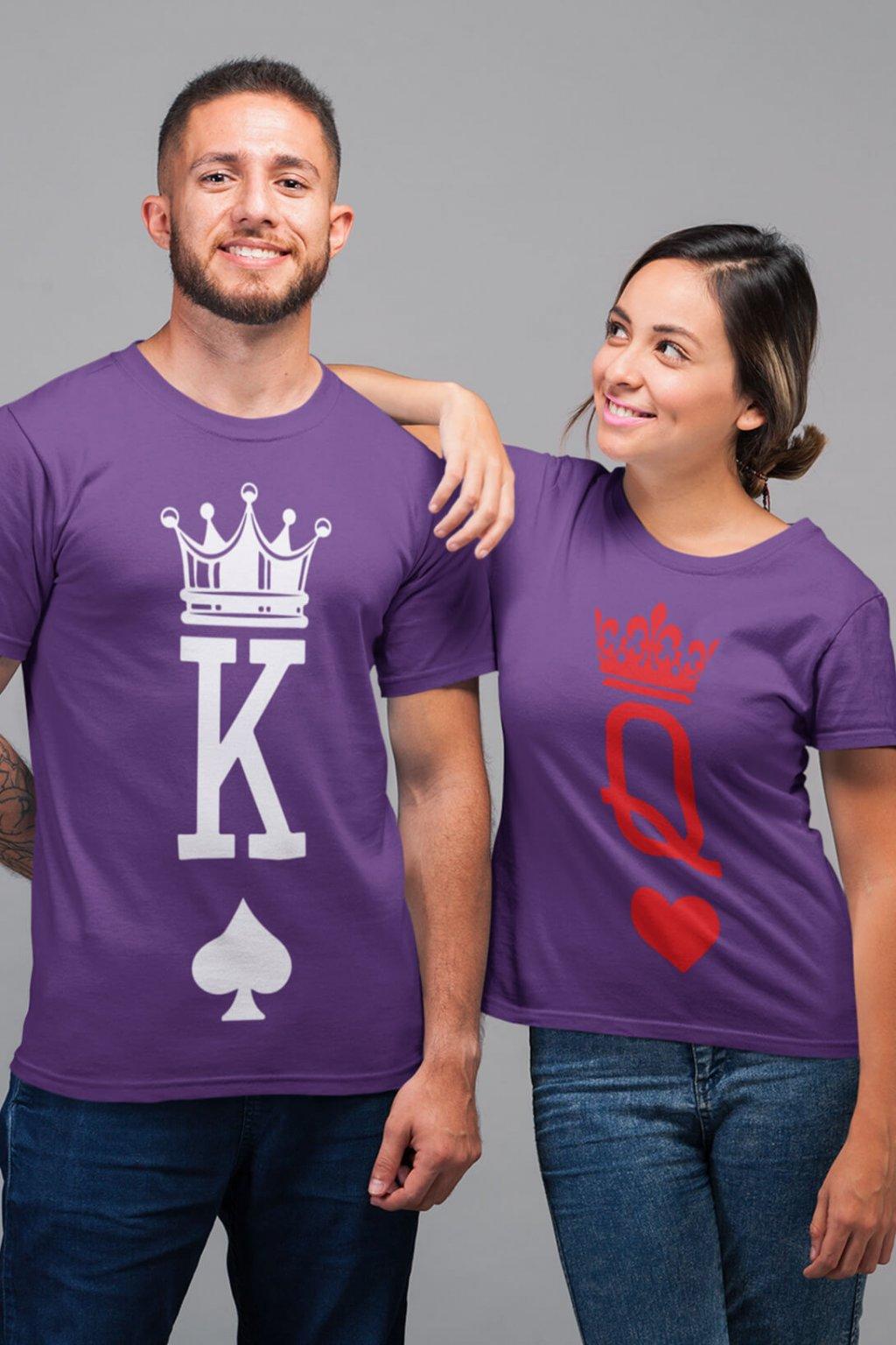 Tričká pre páry K a Q
