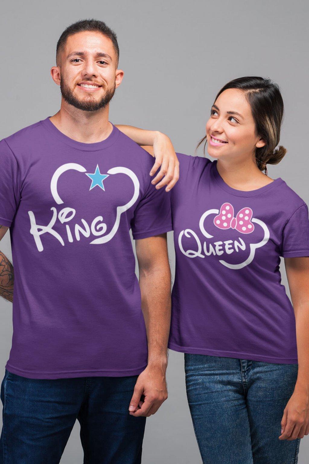 Tričká pre páry King Queen, Mickey