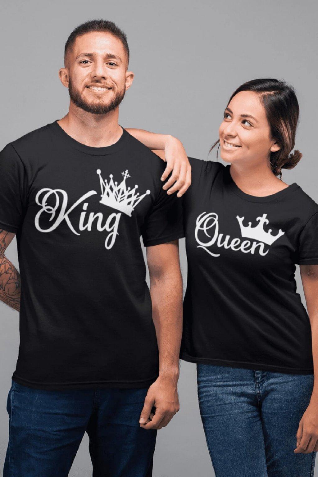 Tričká pre páry King Queen