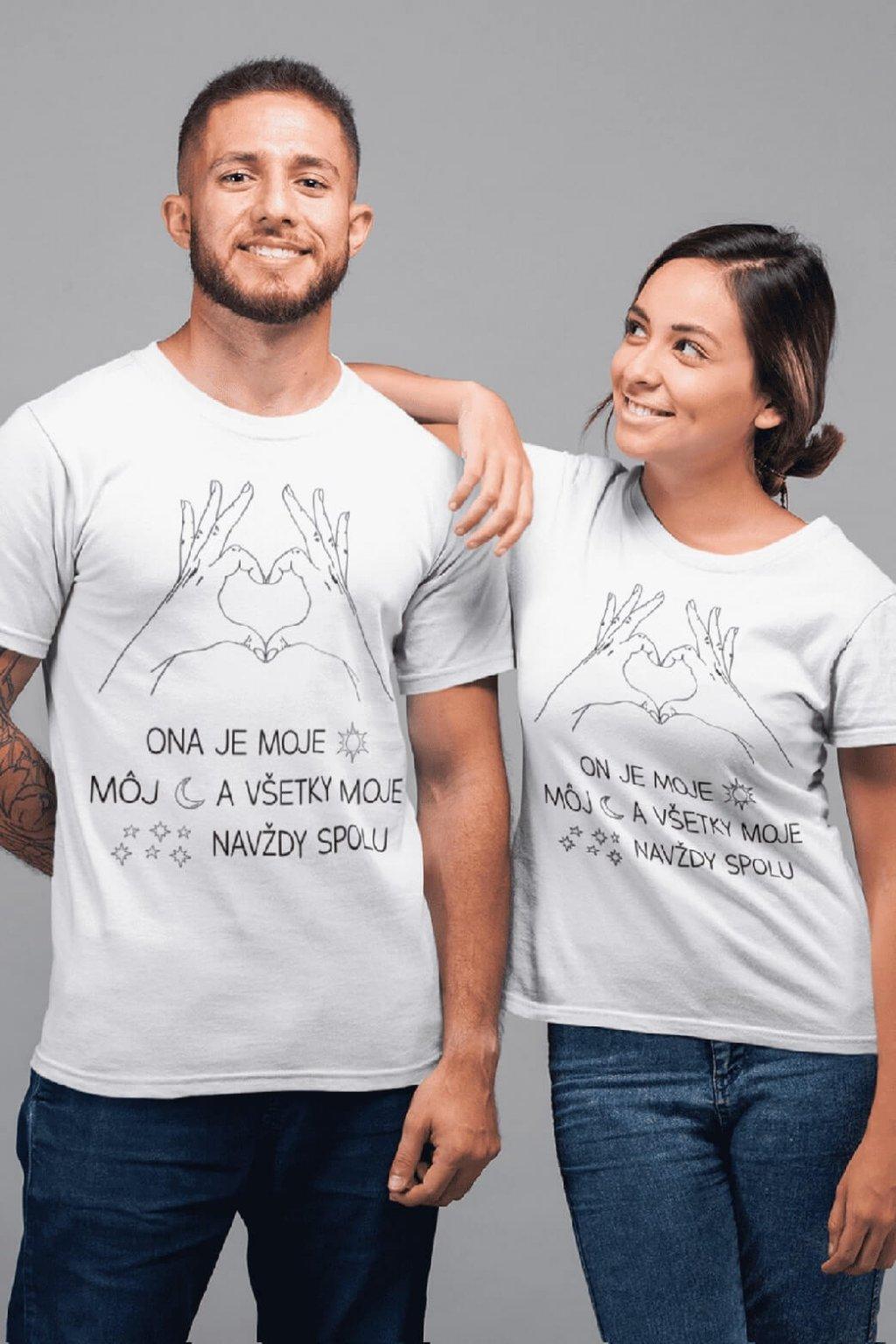 Tričká pre páry Navždy spolu
