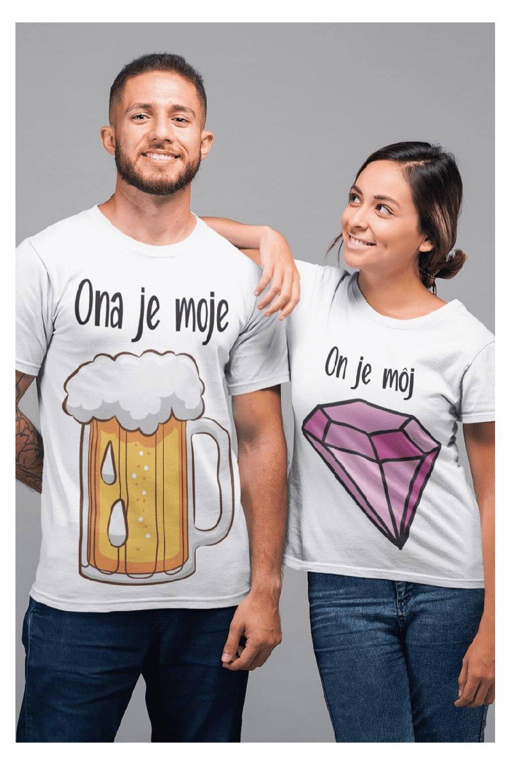 Tričká pre páry Pivo a diamant