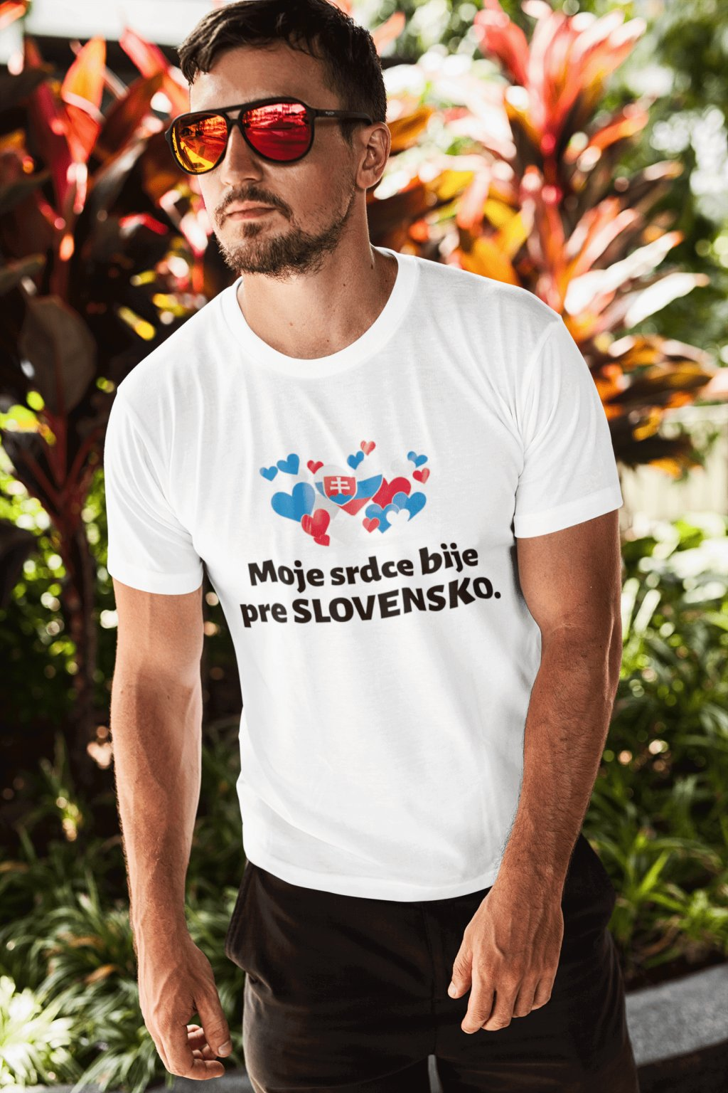 Pánske tričko Srdce bije pre Slovensko