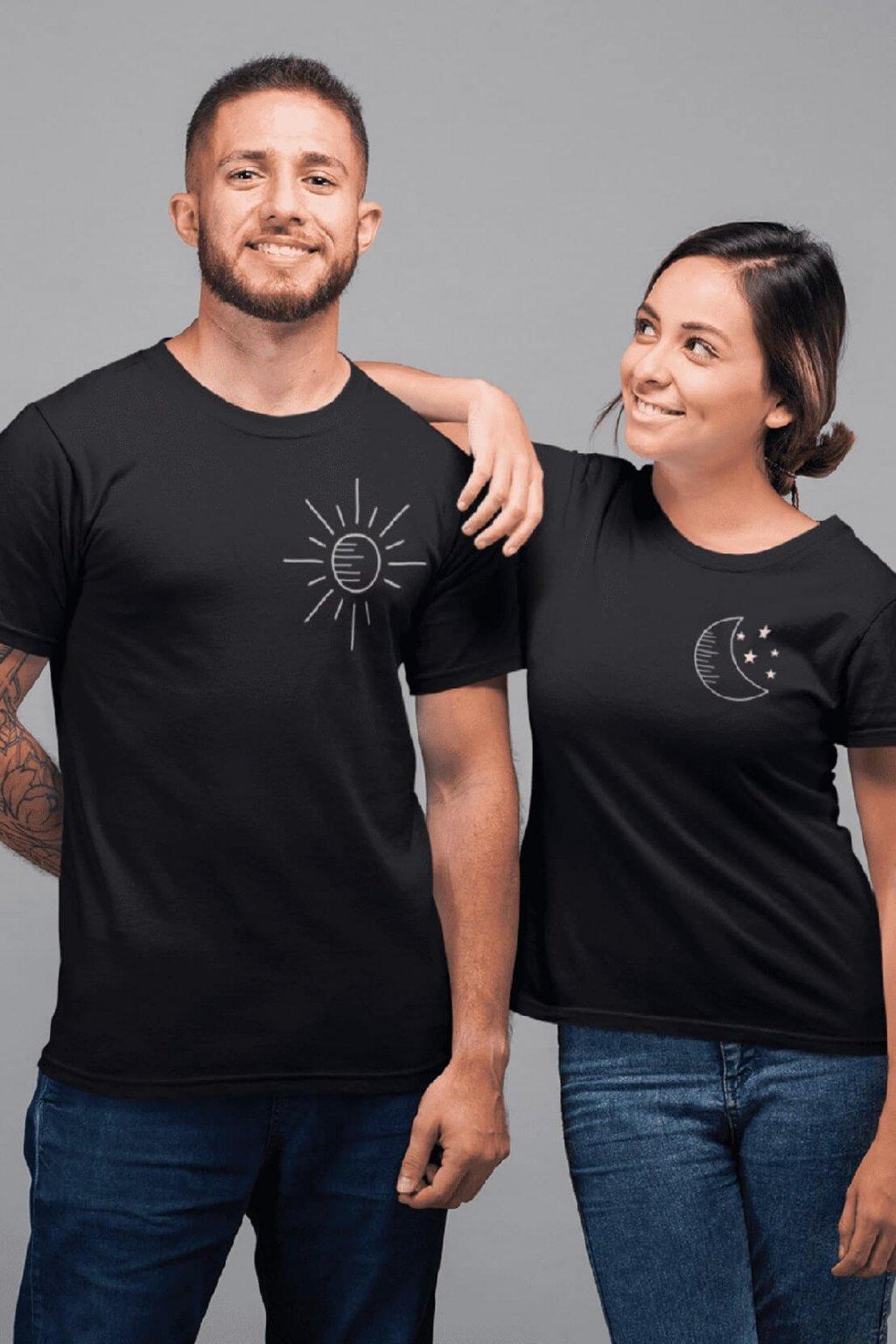 Tričko pre páry Mesiac a slnko