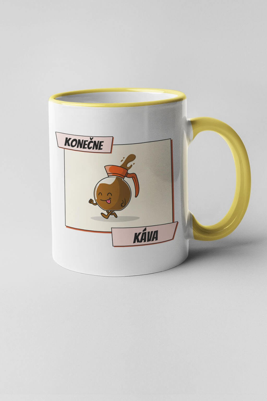 Šálka konečne káva