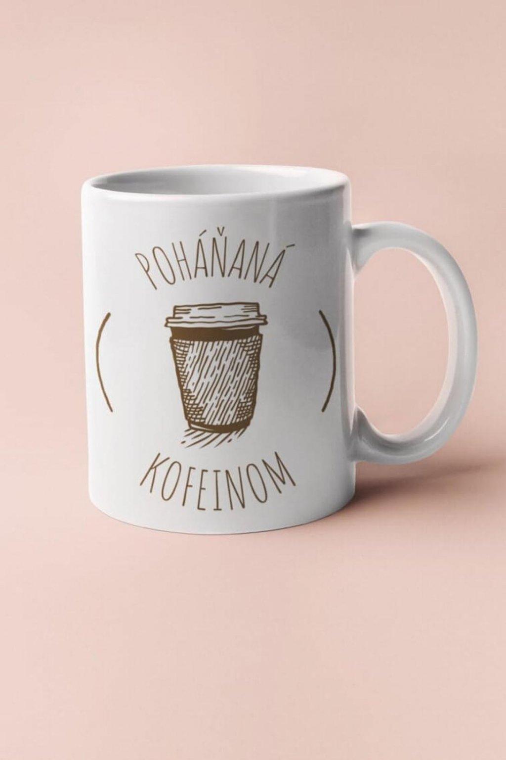 Šálka poháňaná kofeinom