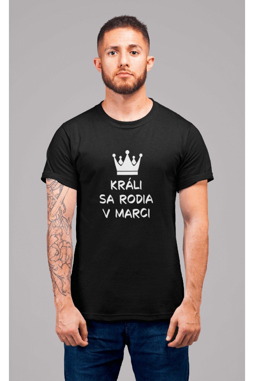 Pánske tričko Králi sa rodia v marci