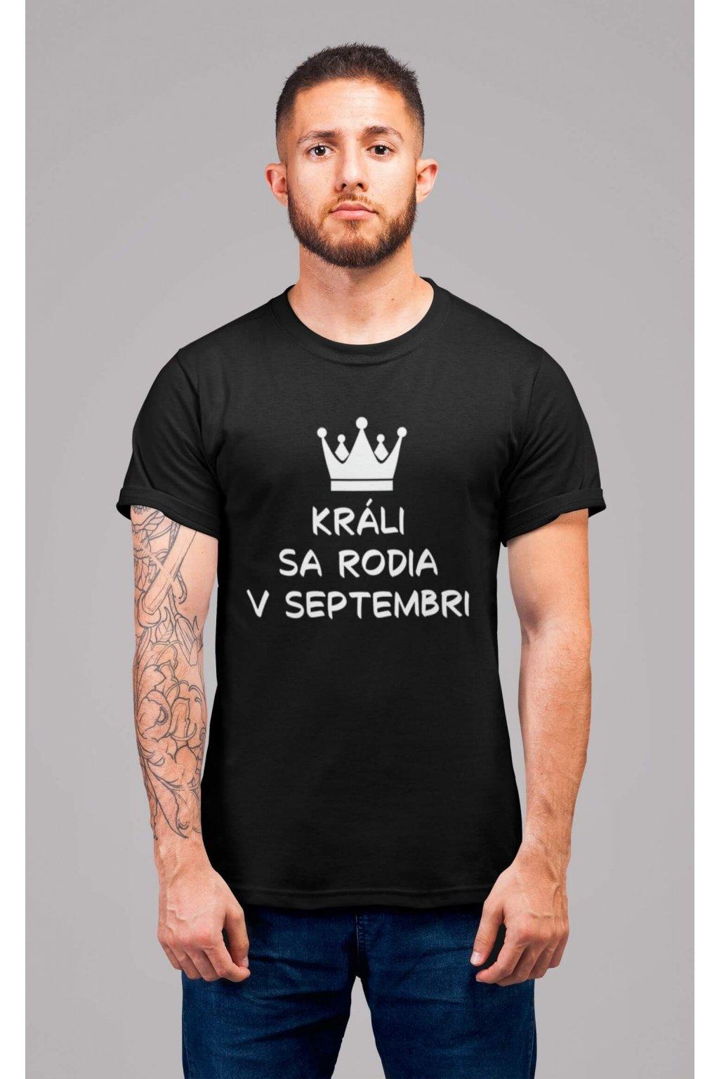 Pánske tričko Králi sa rodia v septembri
