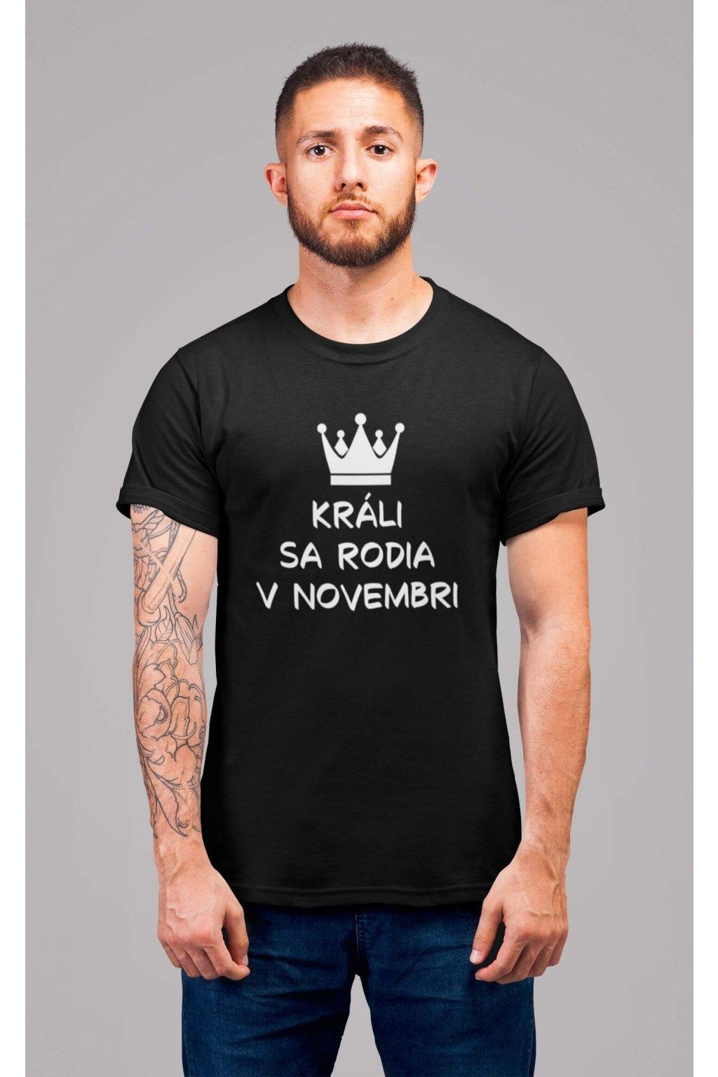 Pánske tričko Králi sa rodia v novembri