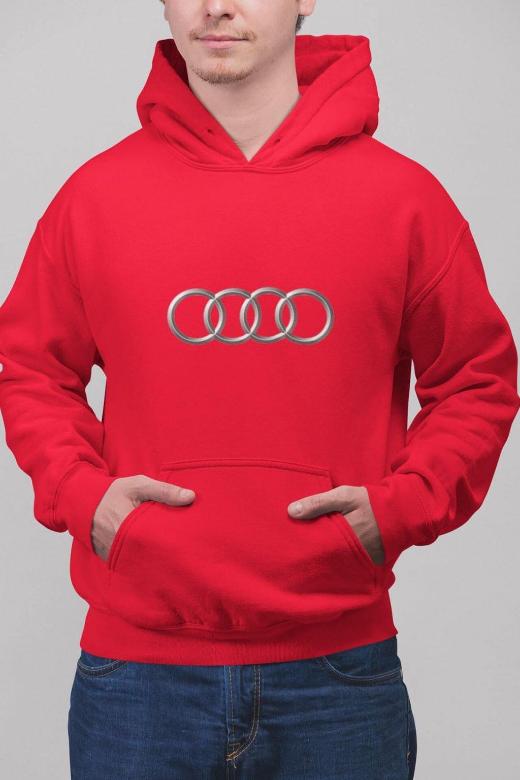 Pánska mikina s logom auta Audi
