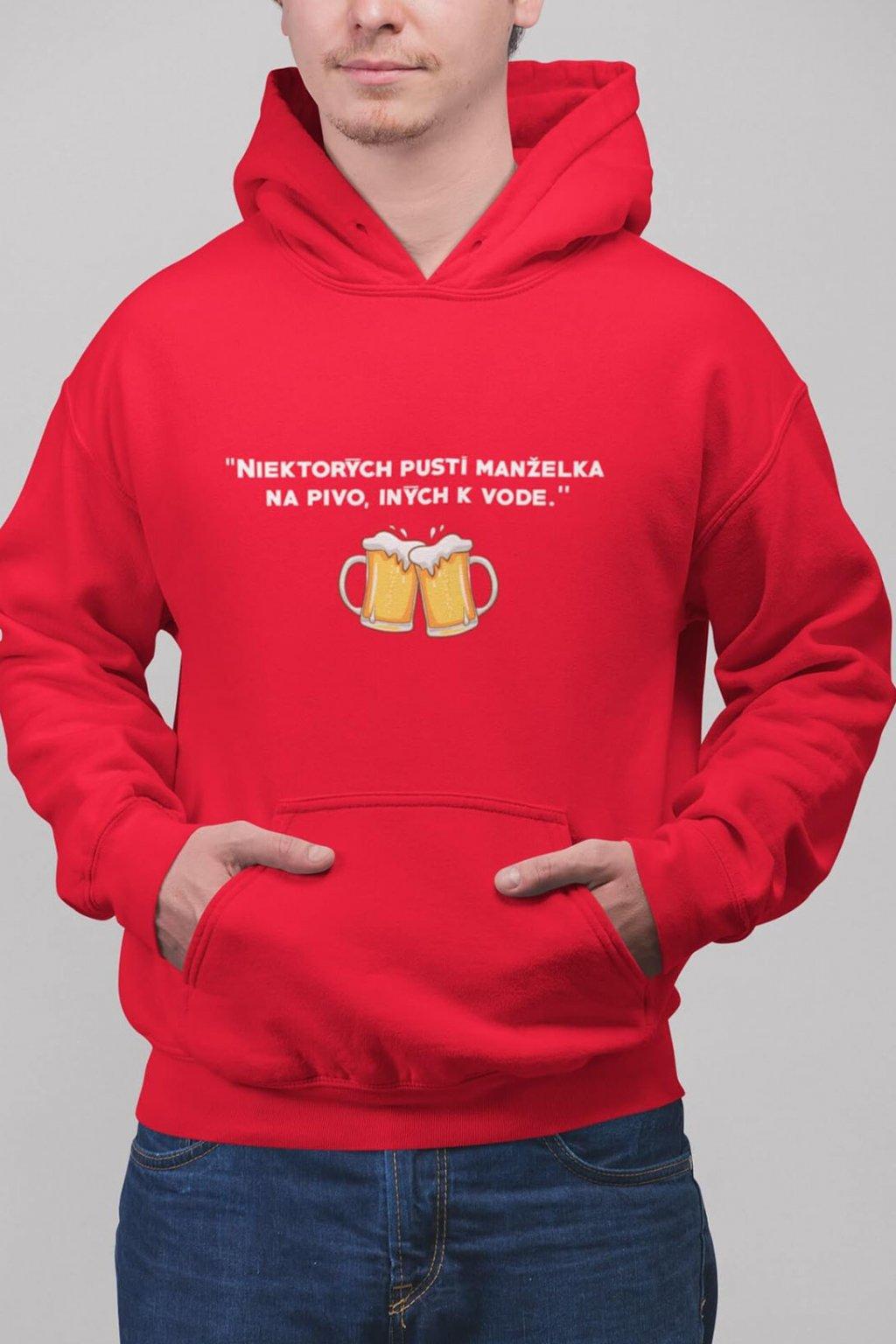 Pánska mikina Pustí na pivo