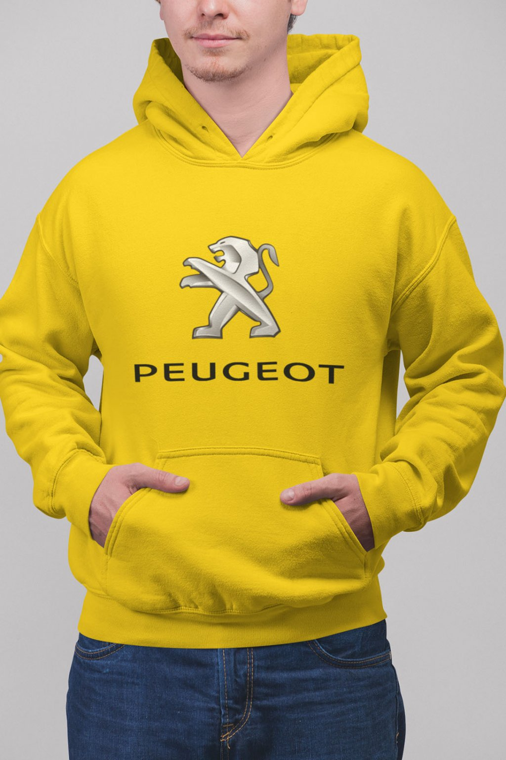Pánska mikina s logom auta Peugot