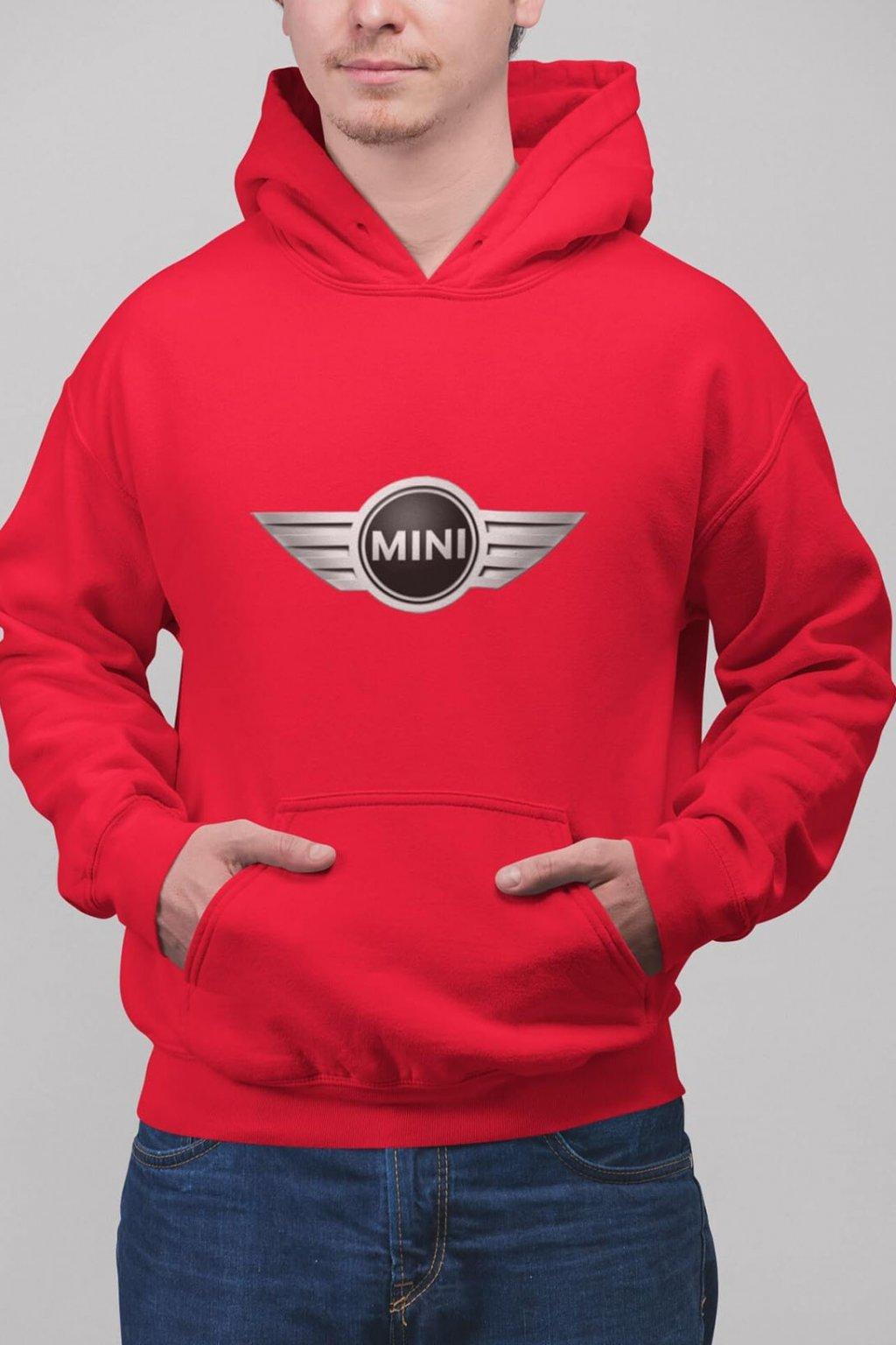 Pánska mikina s logom auta Mini