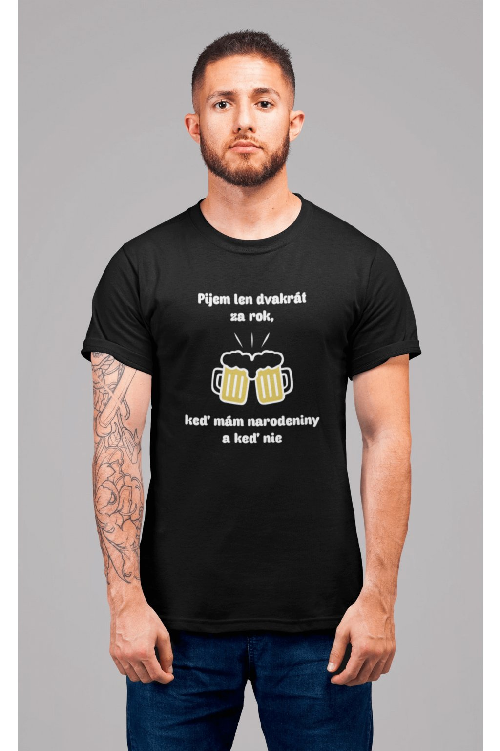 Pánske tričko Pijem dva krát za rok