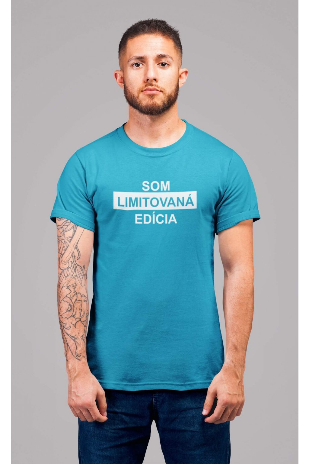 t shirt mockup of a redhead man with tattoos standing in a studio 22340 (4)