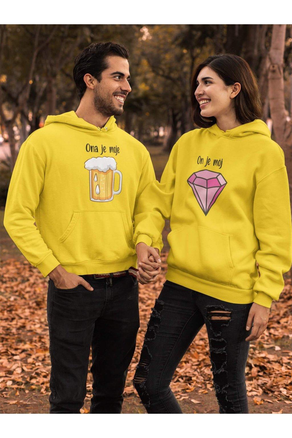 Mikina pre páry Pivo a Diamant