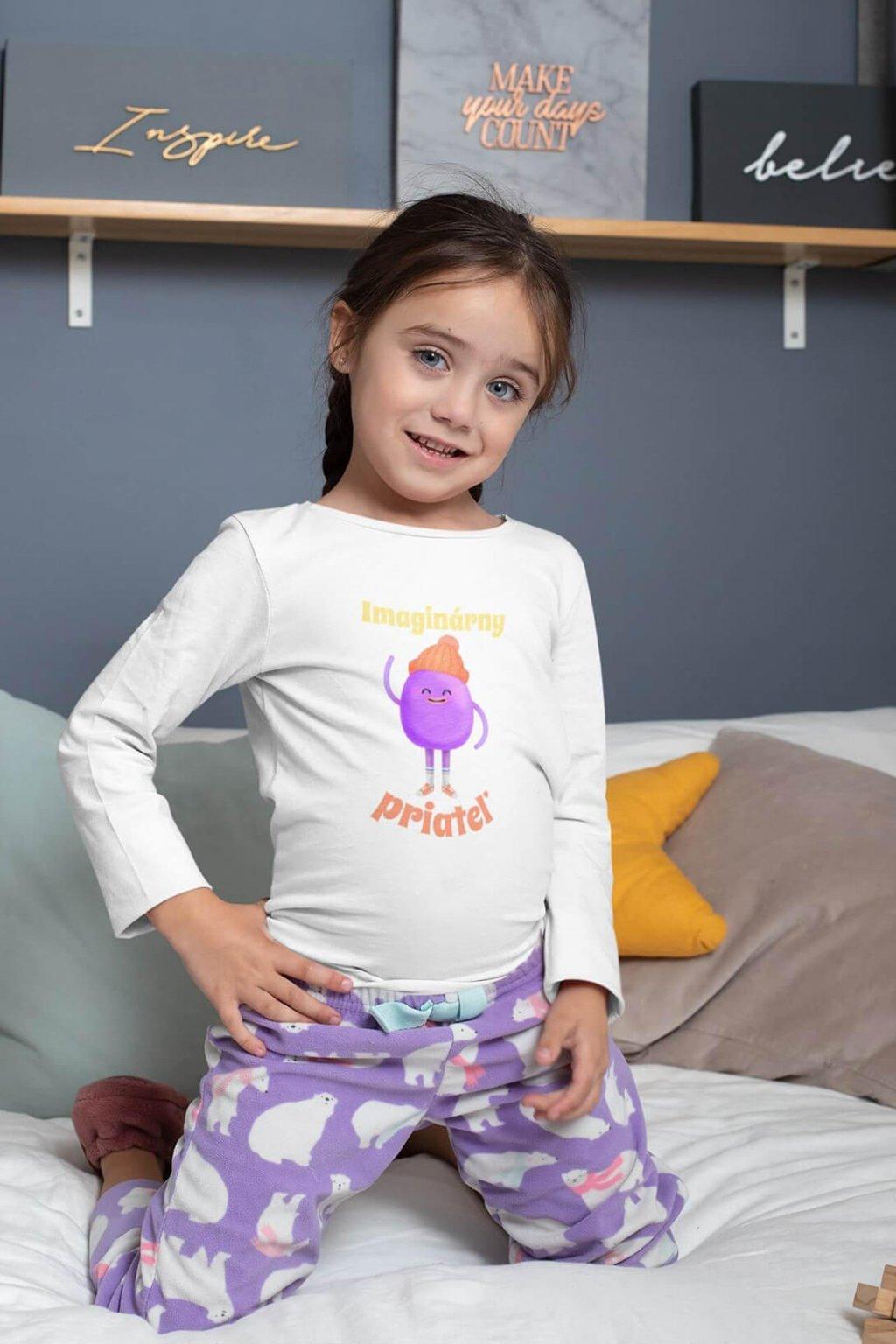 Detské tričko s dlhým rukávom Imaginárny priateľ