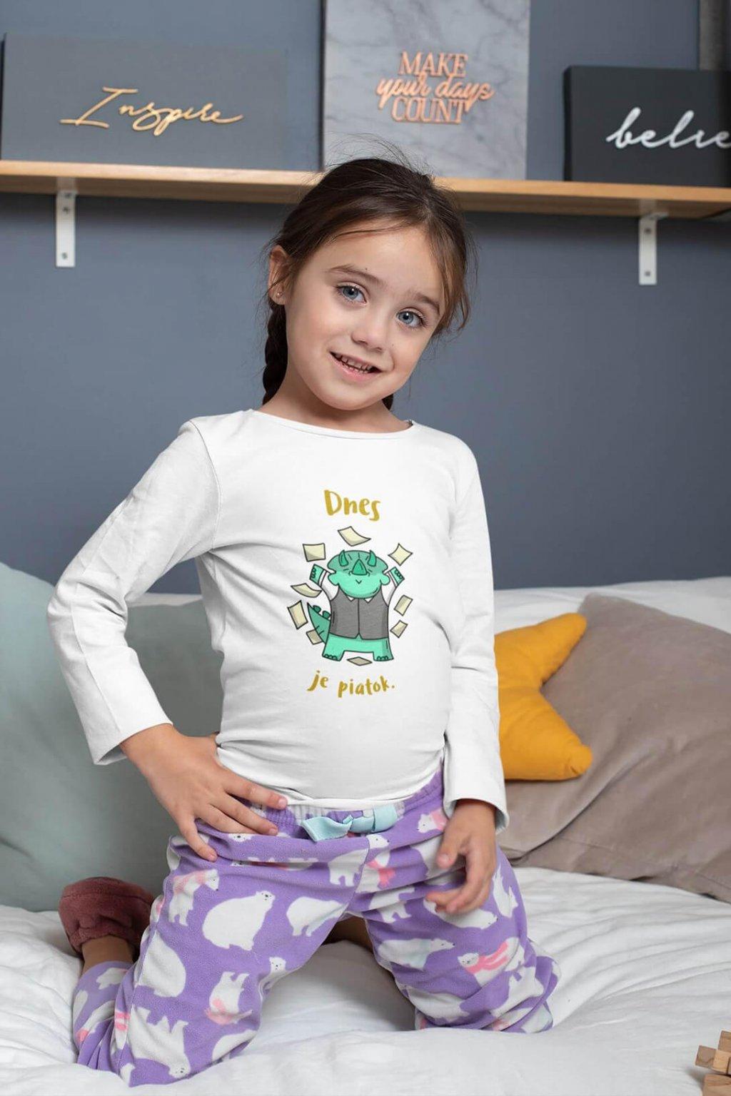 Detské tričko s dlhým rukávom Dnes je piatok