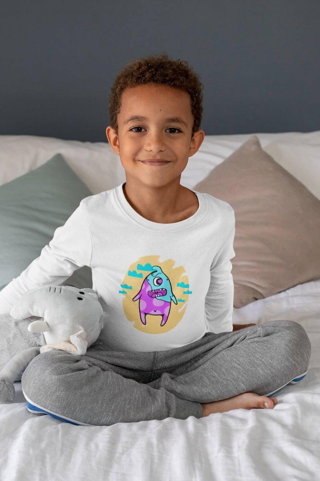 Detské tričko s dlhým rukávom Farebná príšera