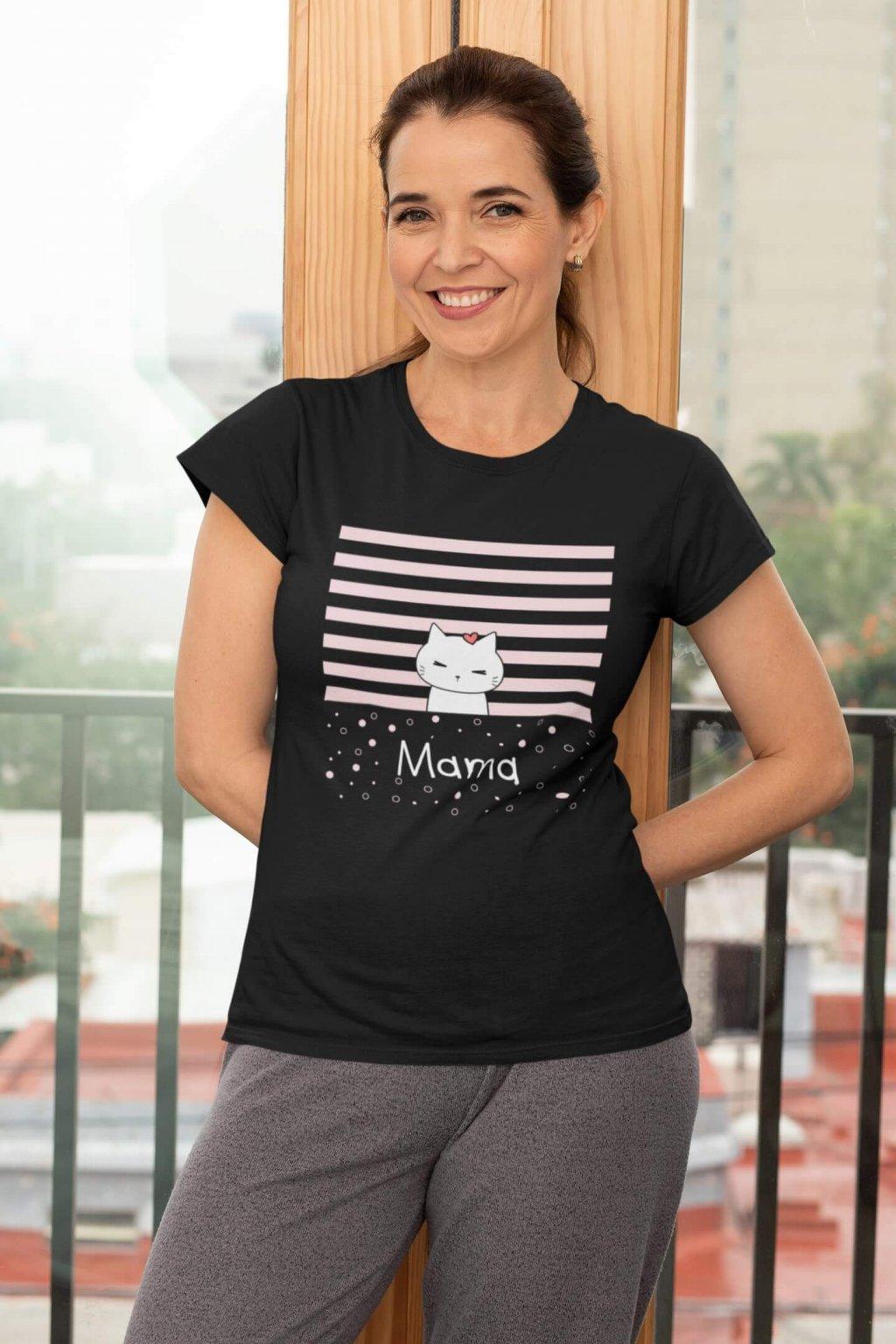 Tričko pre mamu Mačacia rodinka
