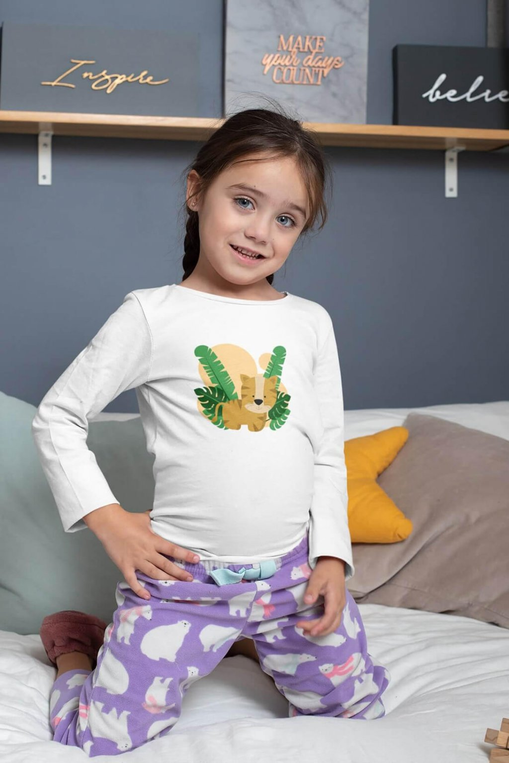 Detské tričko s dlhým rukávom Levík