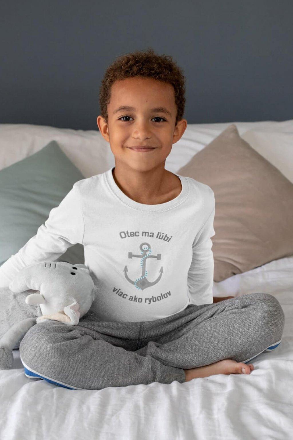Detské tričko s dlhým rukávom Otec vs rybolov