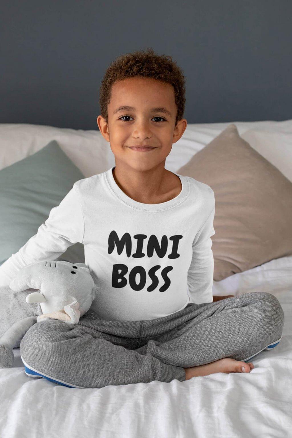 Detské tričko s dlhým rukávom Mini Boss