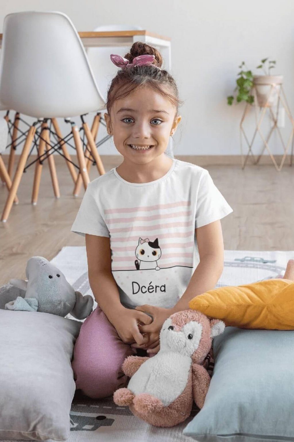 Tričko pre dcéru Mačacia rodinka