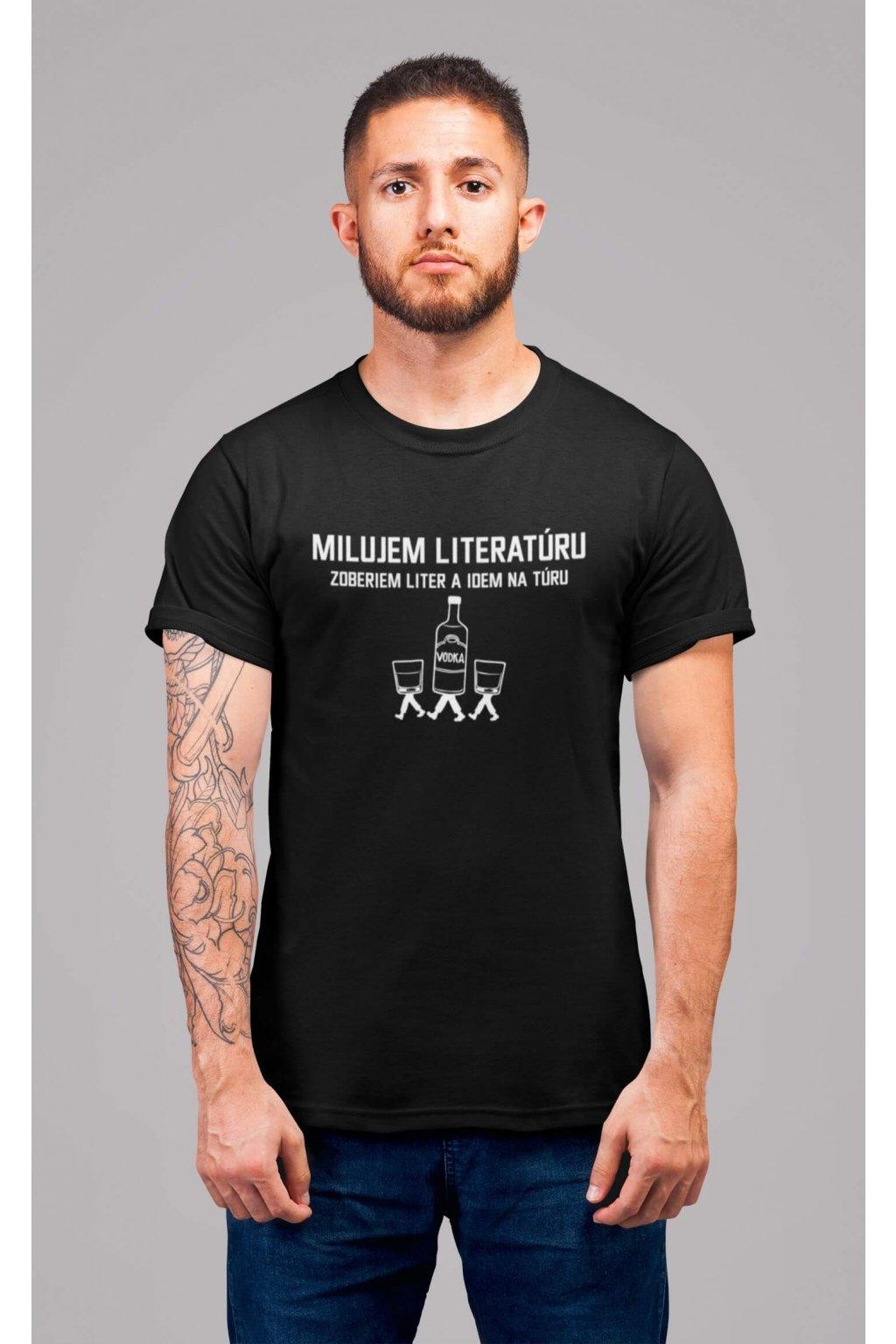 Pánske tričko Milujem literatúru