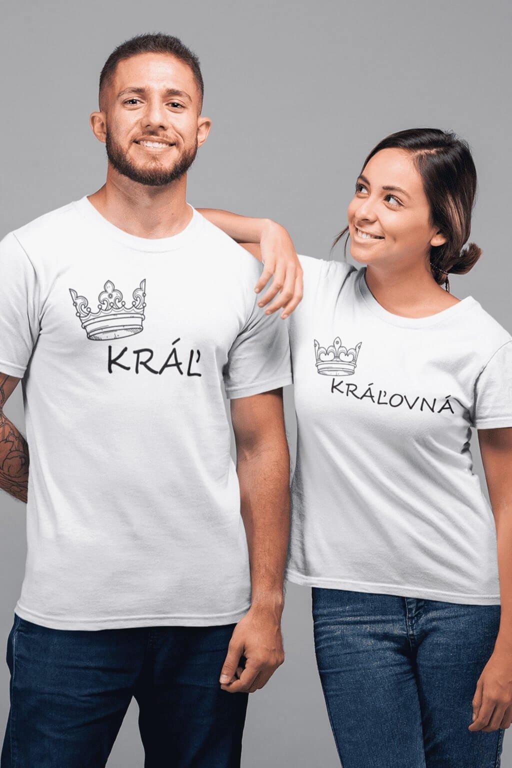 Tričká pre páry Kráľ a Kráľovná