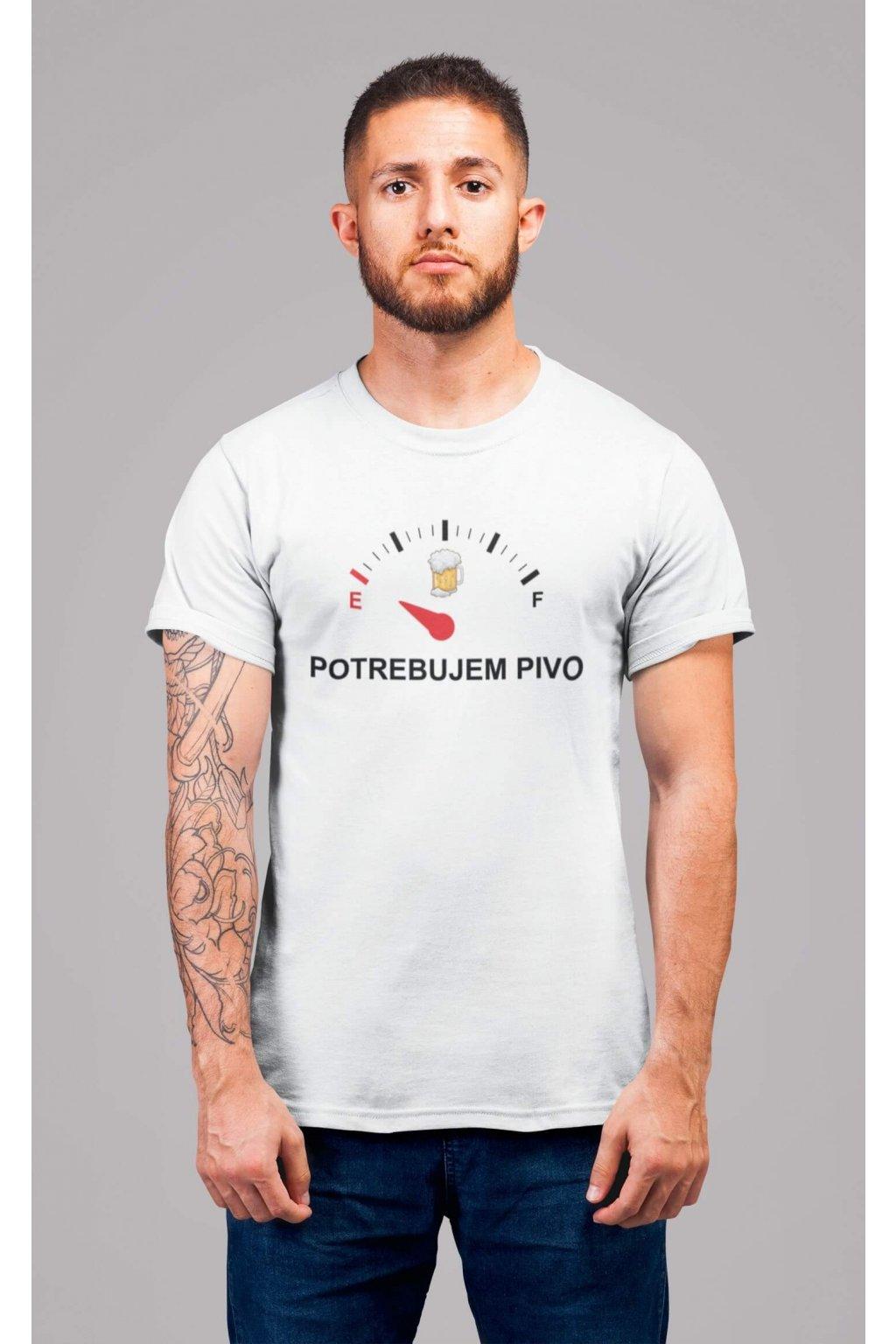 Pánske tričko Potrebujem pivo