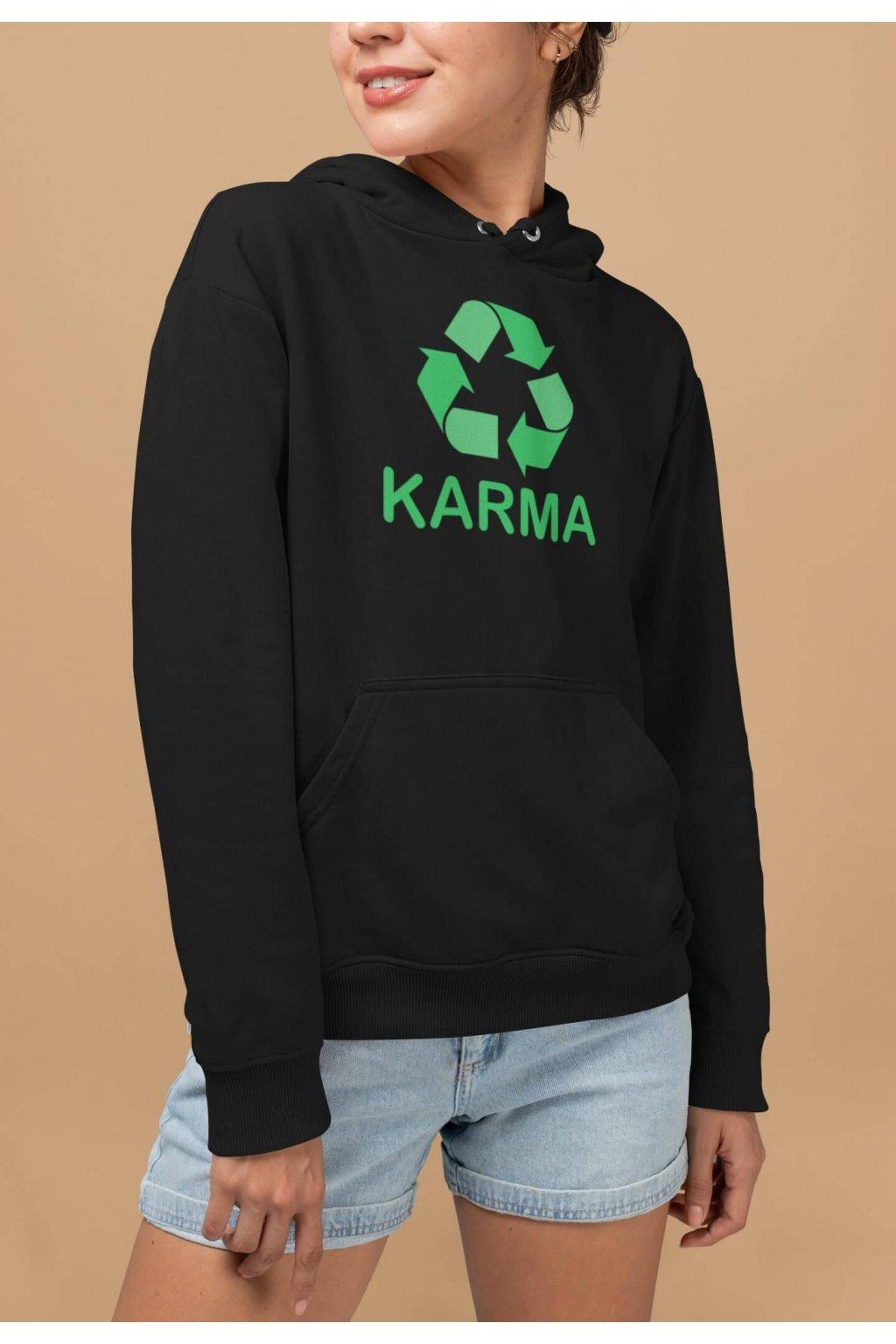Vtipná dámska mikina Karma