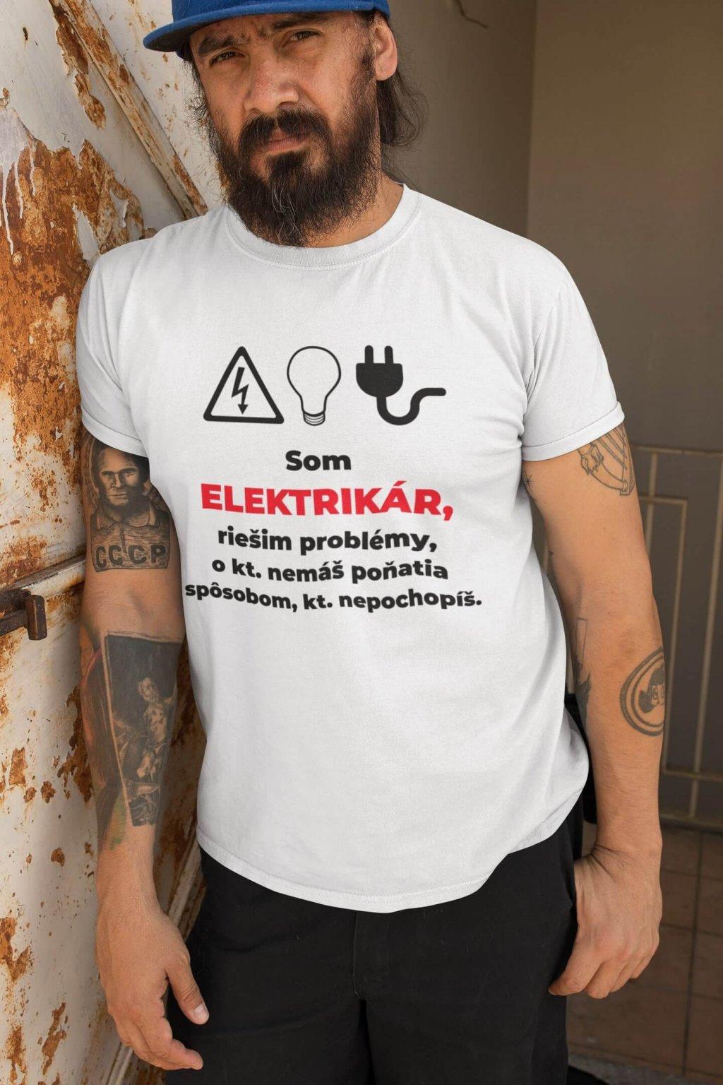 Pánske tričko Elektrikár