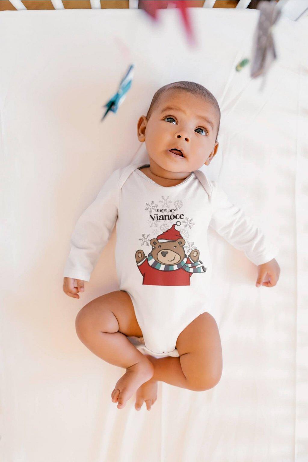 Dojčenské body Vianočný medvedík