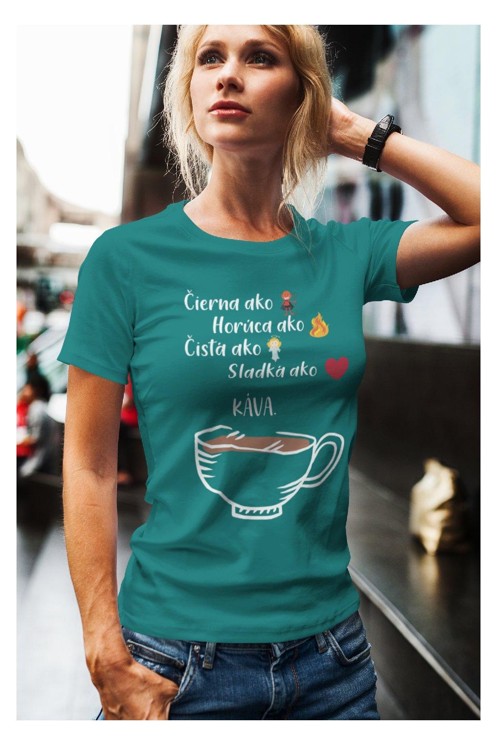 Dámske tričko Definícia kávy