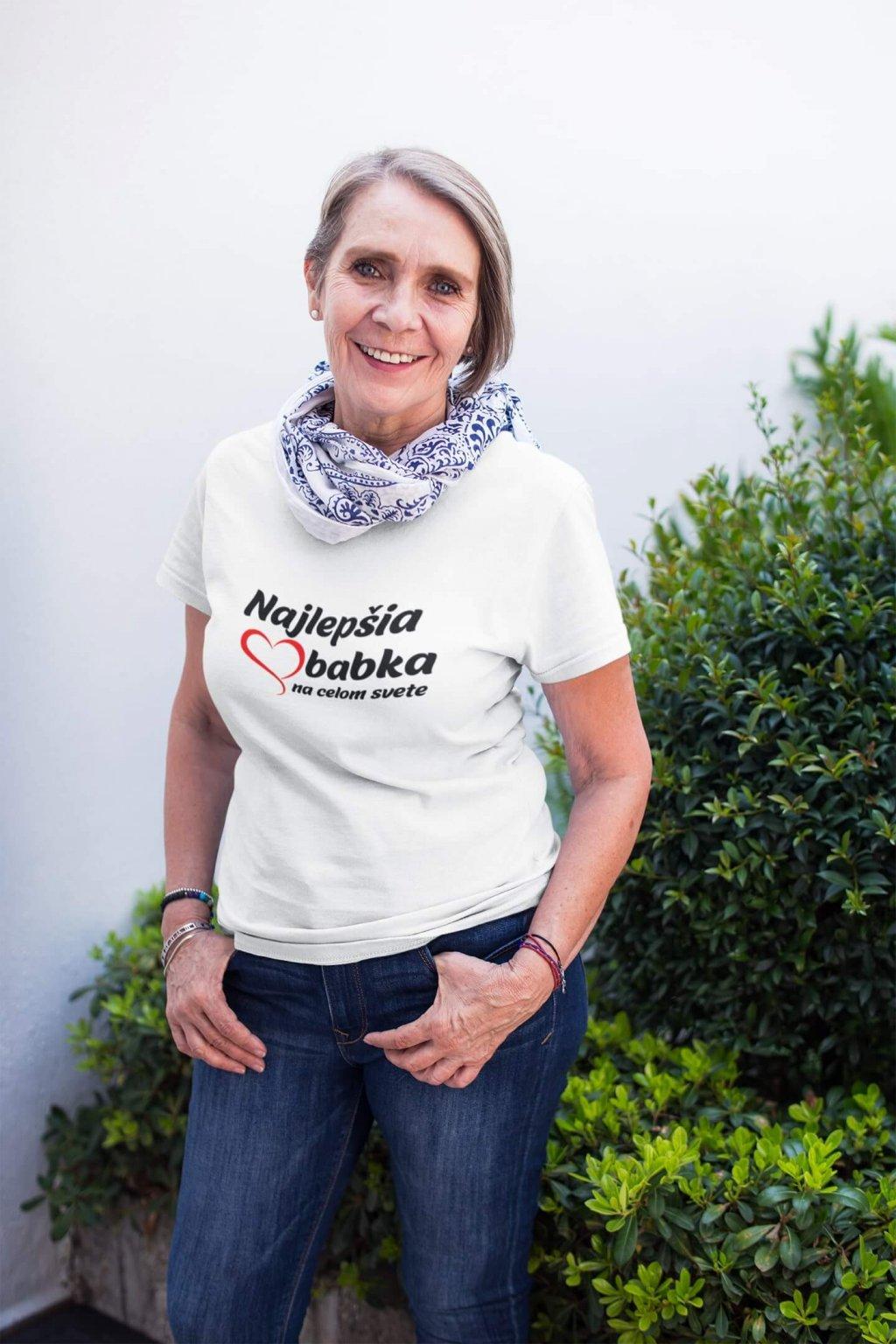 Dámske tričko Najlepšia babka