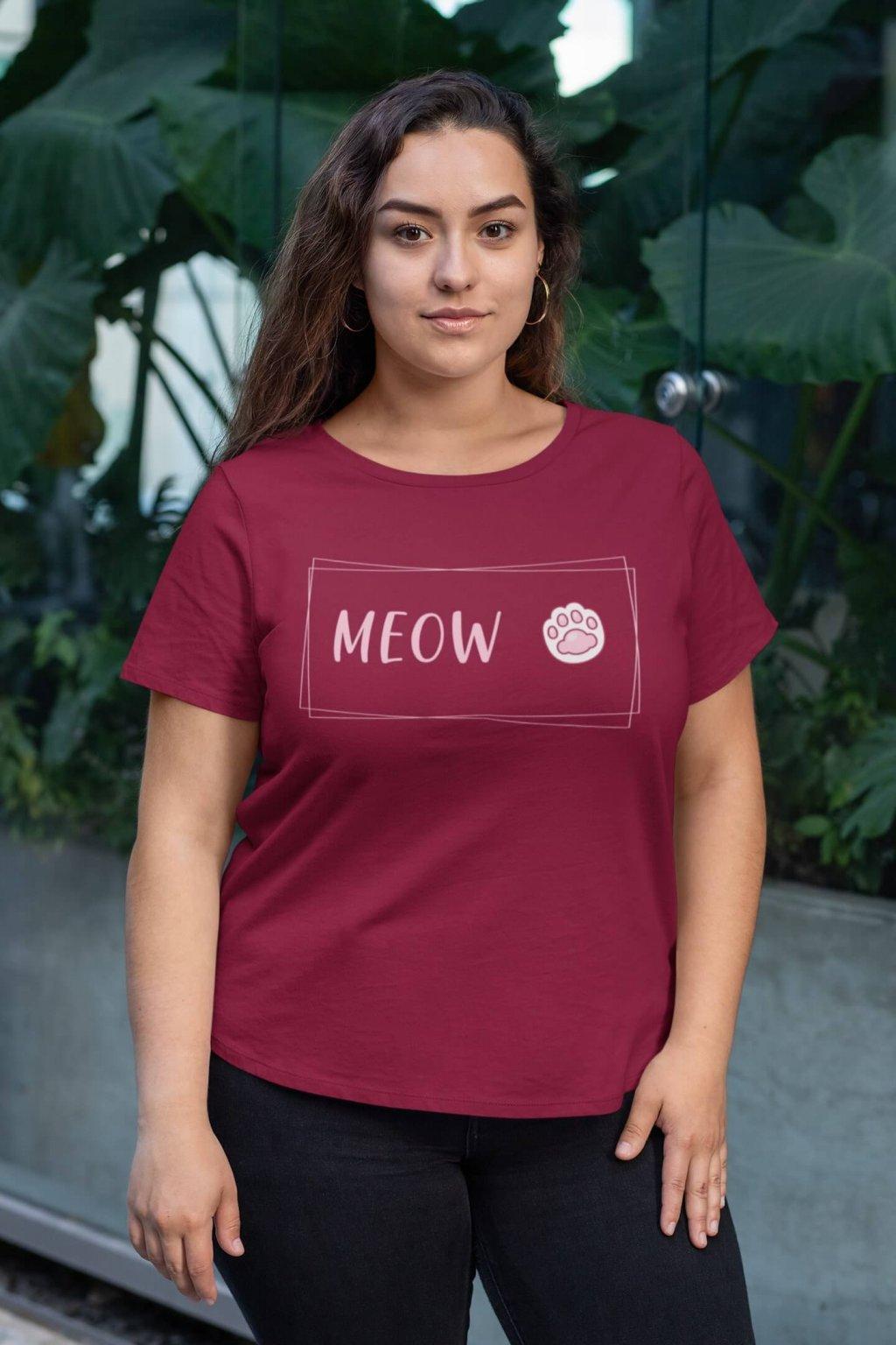 Dámske tričko MEOW