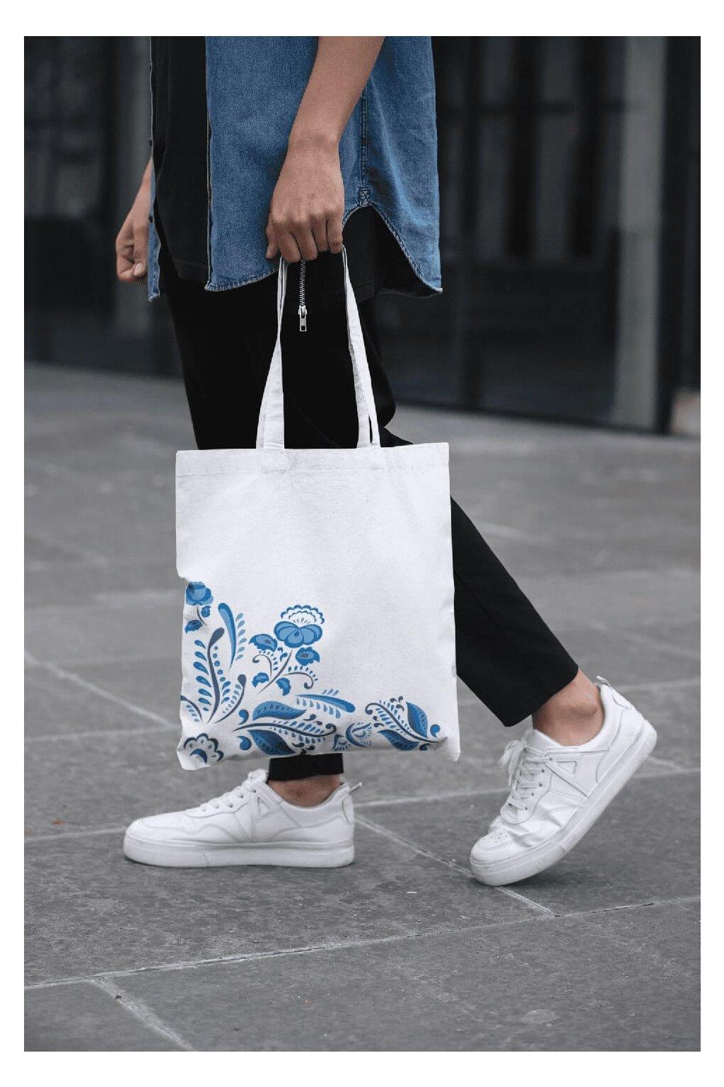 Bavlnená taška s ľudovým motívom
