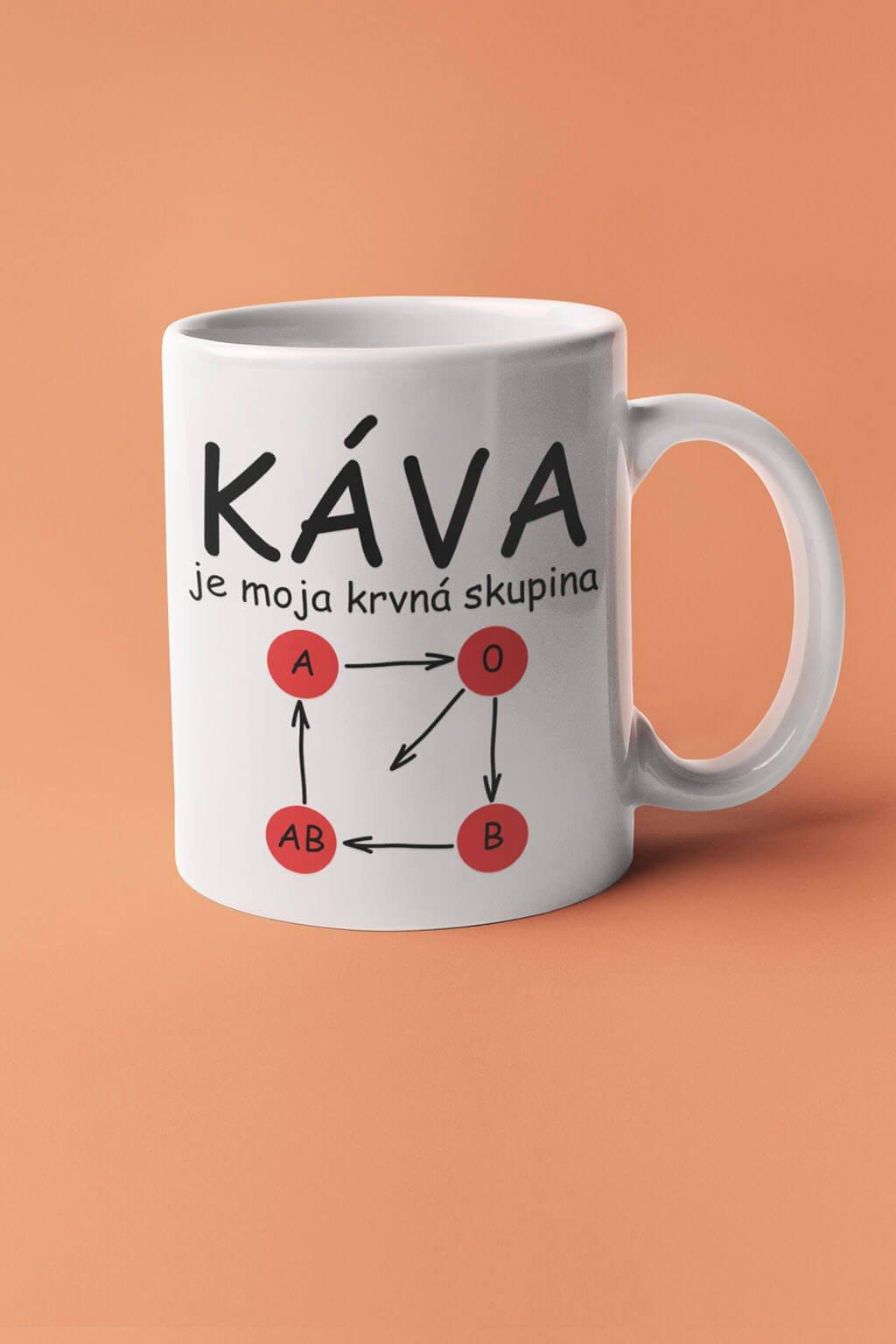 Šálka káva je moja krvná skupina