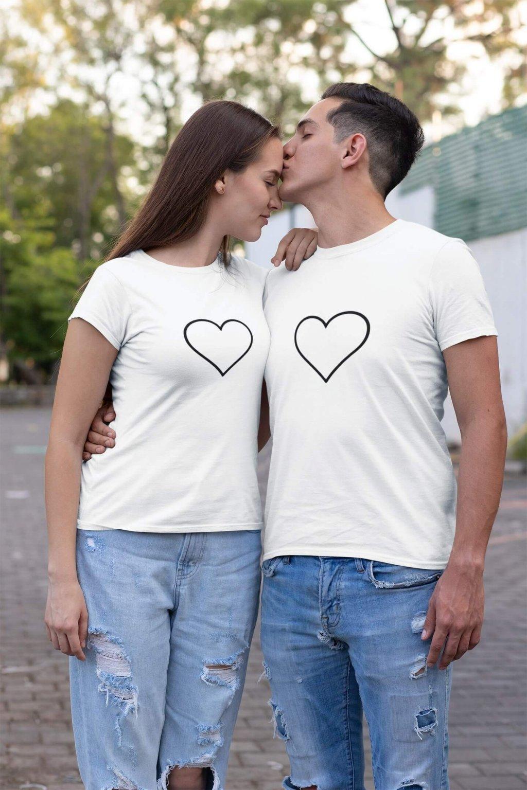 Tričká pre páry Srdce