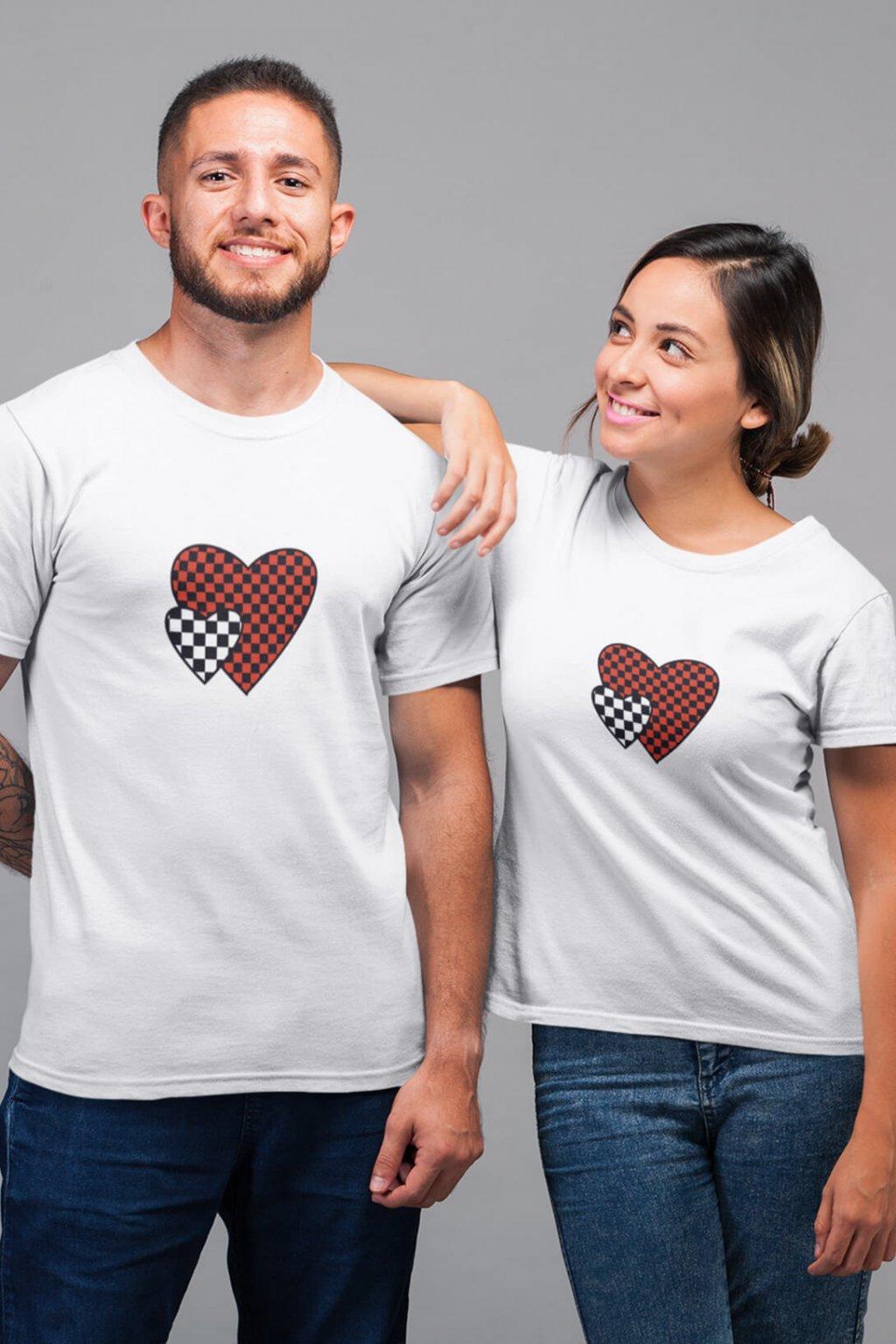 Tričko pre páry Srdiečko