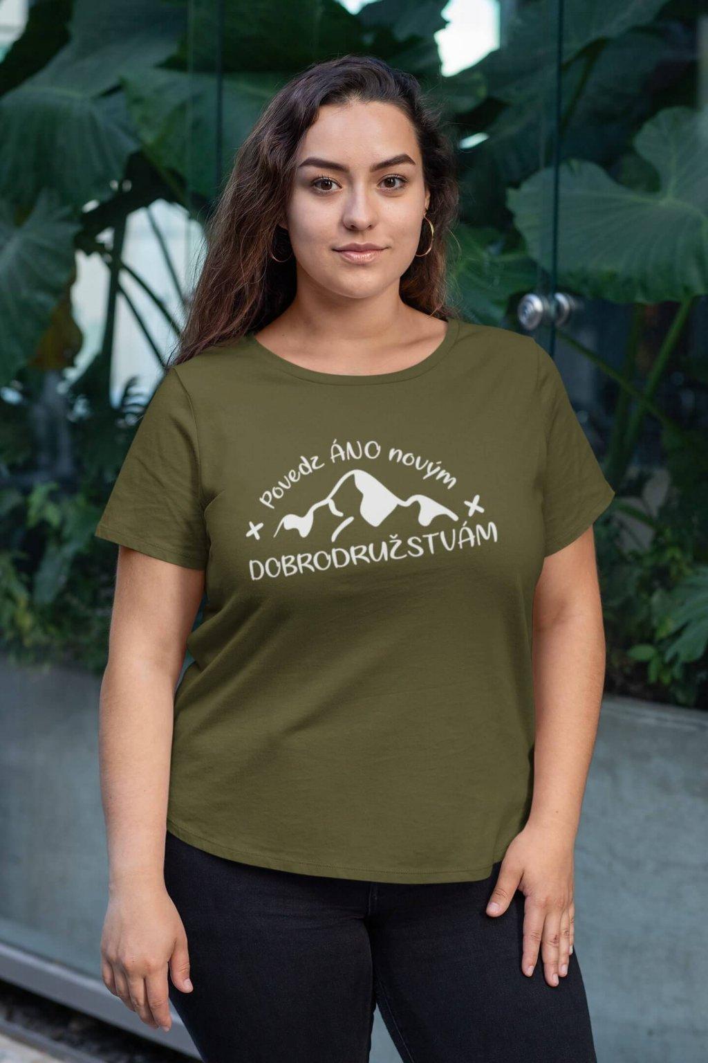 Dámske tričko Áno novým dobrodružstvám